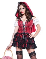 RACY RED RIDINGHOOD COSTUME