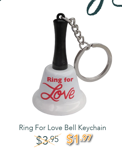 Ring For Love Bell Keychain - was: $3.95 NOW: $1.97