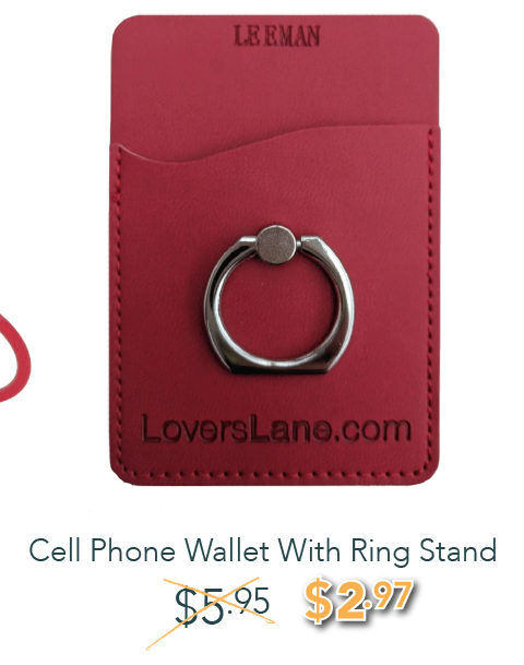 Cell Phone Wallet With Ring Stand - was: $5.95 NOW: $2.97