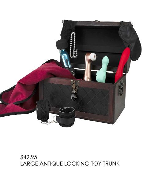 Large Antique Locking Toy Trunk - $49.95