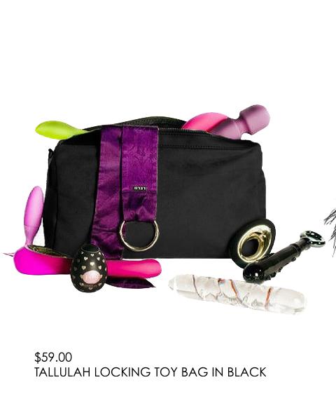 Tallulah Locking Toy Bag In Black - $59.00