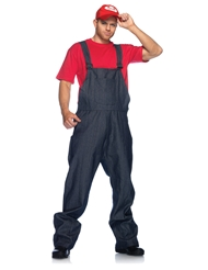 Alternate front view of 3PC SUPER PLUMBER COSTUME