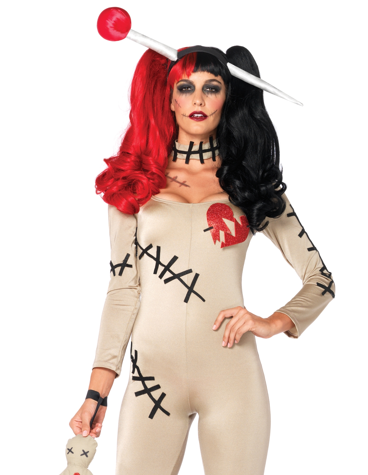 4Pc Voodoo Doll Costume