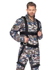 Alternate front view of 2PC MALE PARATROOPER COSTUME