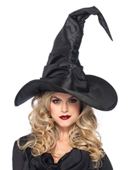Alternate front view of RUCHED WITCH HAT