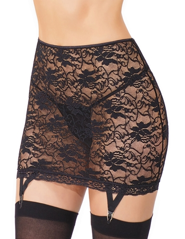 LACE GARTER SKIRT - REG & PLUS