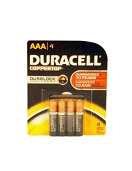 AAA DURACELL BATTERIES 4 PACK