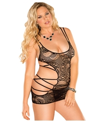 HOT SHOT STRAPPY SIDE CHEMISE