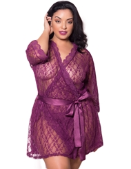 LOVING LACE ROBE - PLUS