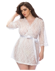 LOVING LACE PLUS SIZE ROBE