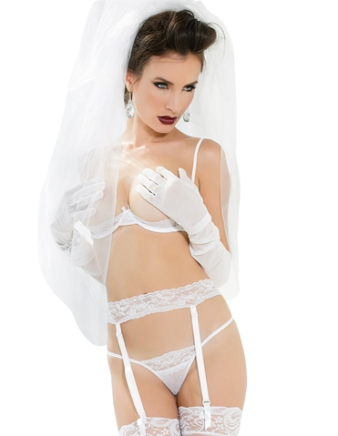 LACE BRA AND GARTER BELT SET