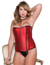 Alternate front view of ZIP REVERSIBLE CORSET