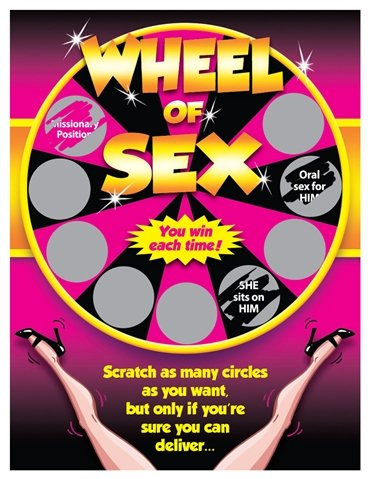 WHEEL OF SEX SEXY SCRATCHER