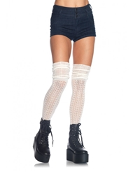 Alternate front view of OVER THE KNEE SCRUNCH SOCKS