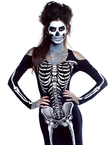 FROM THE GRAVE LONG SKELETON DRESS
