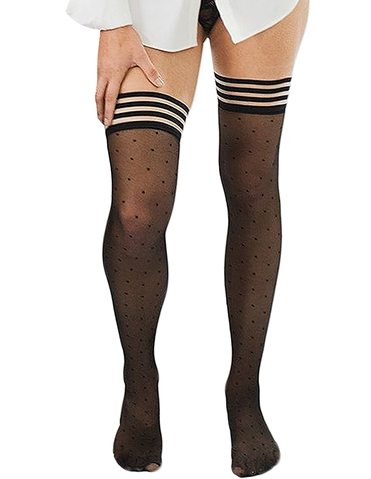 ALLY SHEER DOT THIGH HIGHS