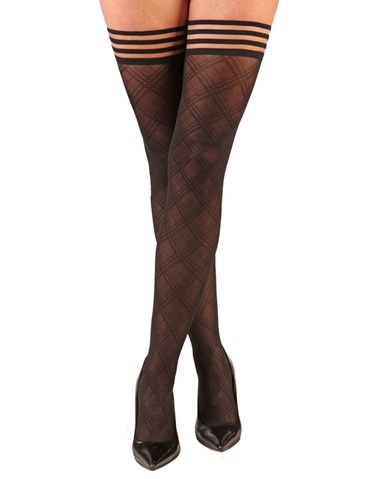 TIFFANY SHEER DIAMOND THIGH HIGHS