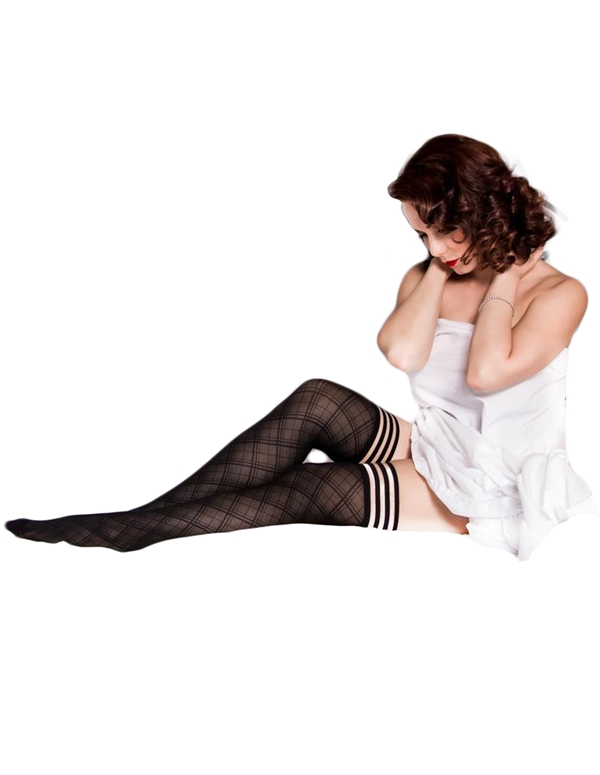 alternate view Tiffany Sheer Diamond Thigh HighsALT2