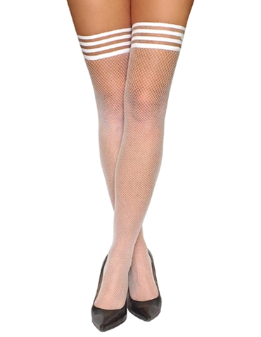 SAMMY WHITE CLASSIC FISHNET THIGH HIGHS