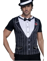 Alternate front view of GANGSTER SHIRT COSTUME