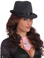 Alternate view of PINSTRIPE GANGSTER HAT