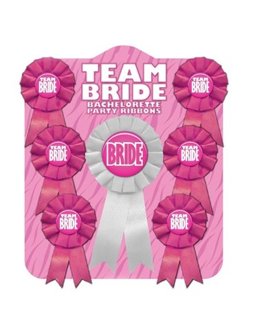 TEAM BRIDE RIBBON PIN SET