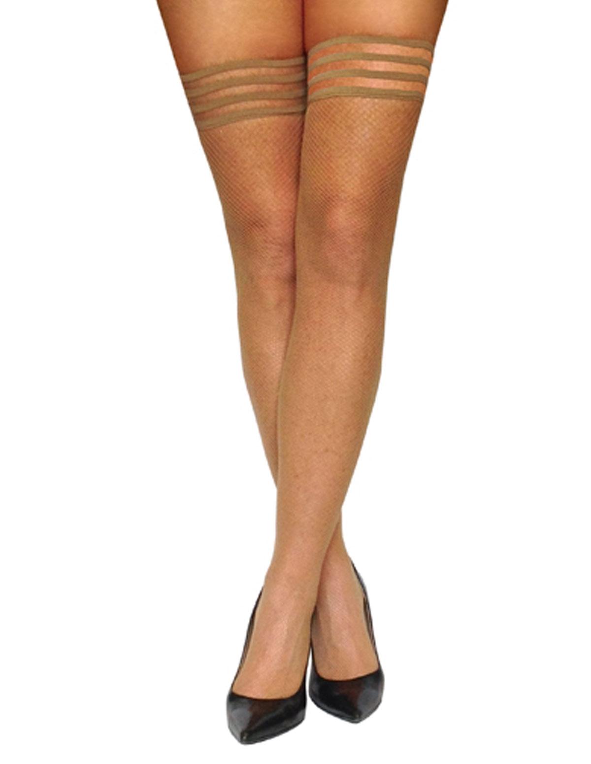 Samantha Classic Fishnet Thigh Highs