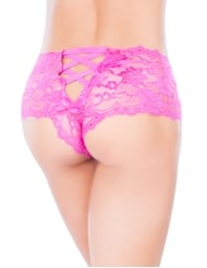 LACE UP CROTCHLESS BOYSHORT
