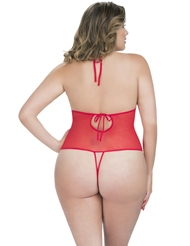 LACE CROTCHLESS PLUS SIZE TEDDY