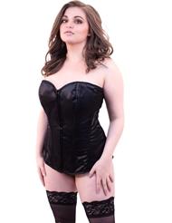 Alternate front view of LAVISH SWEETHEART CORSET FRONT ZIPPER