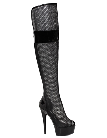 IVY FISHNET THIGH HIGH BOOT
