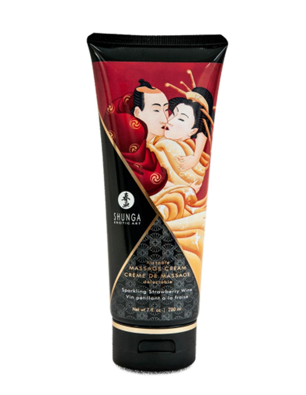 Kissable Massage Cream - Strawberry Wine