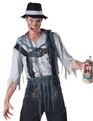 Alternate front view of OKTOBERFEAST ZOMBIE LEDERHOSEN COSTUME