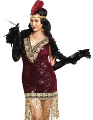 SOPHISTICATED LADY FLAPPER PLUS SIZE COSTUME