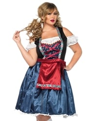 Alternate front view of BEERFEST BEAUTY PLUS SIZE COSTUME