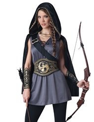 Alternate front view of HUNTRESS PLUS SIZE COSTUME