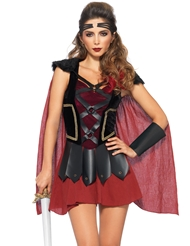 Alternate front view of 4PC TROJAN WARRIOR COSTUME