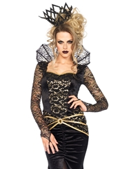 Alternate front view of 2PC DELUXE EVIL QUEEN COSTUME