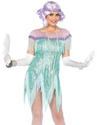 Alternate back view of 2PC FOXTROT FLIRT FLAPPER COSTUME