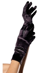 Alternate front view of SATIN WRIST LENGTH GLOVES