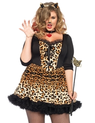 4PC WILDCAT PLUS SIZE COSTUME