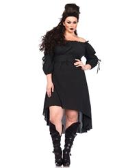 GAUZE PEASANT DRESS - PLUS