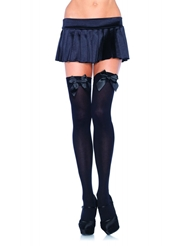 Alternate front view of OPAQUE THIGH HIGH W/BOW