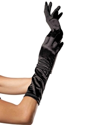 Alternate front view of SATIN ELBOW LENGTH GLOVES