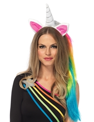 Alternate front view of MAGICAL UNICORN HEADBAND