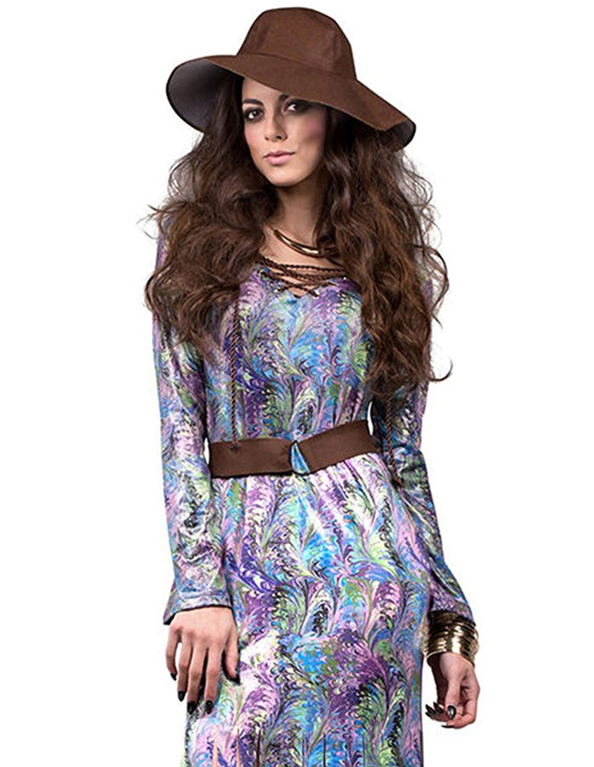 Dream On 70S Maxi Dress With Belt