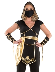 Alternate front view of NINJA ASSASSIN COSTUME