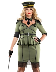 Alternate front view of ARMY BRAT DIVA COSTUME