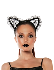 Alternate front view of LACE CAT EARS