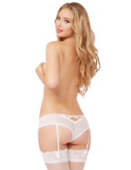 GALLOON LACE OPEN CROTCH GARTER PANTY
